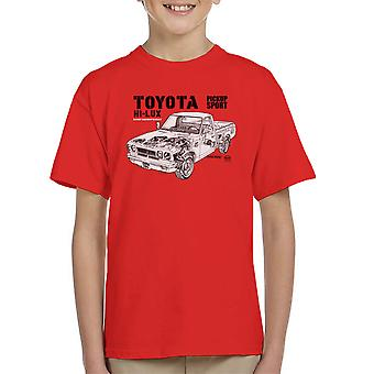Taller de Haynes Manual Toyota Hi Lux negro camiseta de niño