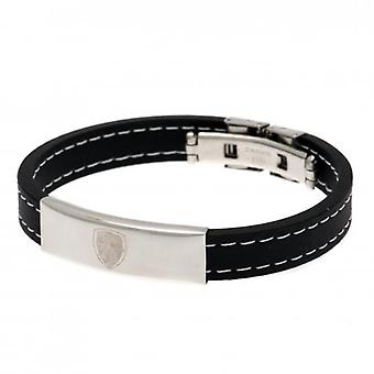 Bracelet en silicone cousu Arsenal