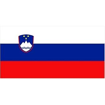 Slovenia/Slovenian Flag 5ft x 3ft (100% Polyester) With Eyelets