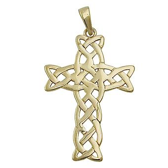Pendants cross gold 375 cross pendant pendant, cross, shiny 9 KT GOLD