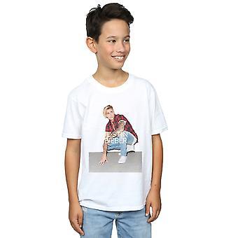 Justin Bieber Boys Flannel Photo T-Shirt