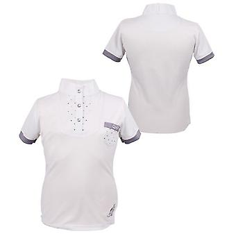 QHP Junior Competition shirt Pearl White