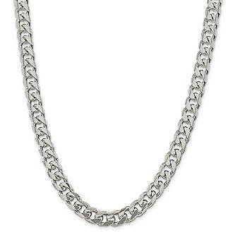 Sterling sølv 10,5 mm hvælvet bremse kæde halskæde - længde: 20-26