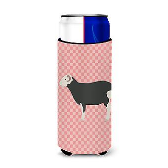 Herwick Sheep Pink Check Michelob Ultra Hugger for slim cans