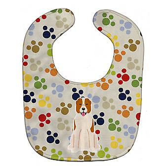 Carolines Treasures  BB5878BIB Pawprints Central Asian Shepherd Dog Baby Bib