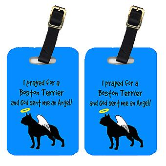Carolines Treasures  AN1109BT Pair of 2 Boston Terrier Luggage Tags