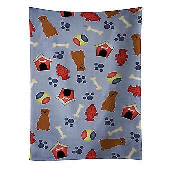 Toalla de cocina perro casa colección Dogo de Burdeos