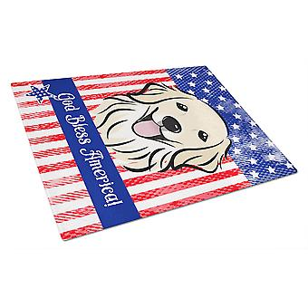 Carolines Treasures  BB2135LCB Golden Retriever Glass Cutting Board Large