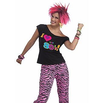 I Love The 80s Remix 1980s Disco Retro Party Women Costume Shirt Top