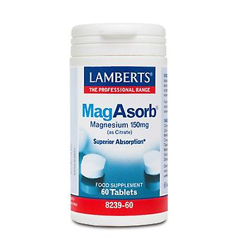 Lamberts MagAsorb (as citrate), 60 tablets