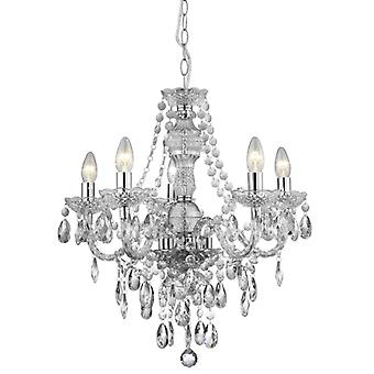 Chiara 5 luce acrilico Marie Therese - Searchlight 8885-5cl