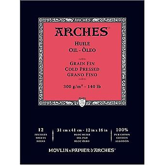 Arches Oil Cold Pressed Paper 140# 12 Sheets-12