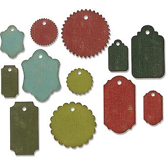 Sizzix Thinlits Dies By Tim Holtz 12/Pkg-Gift Tags 662423