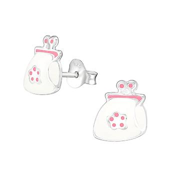 Purse - 925 Sterling Silver Colourful Ear Studs