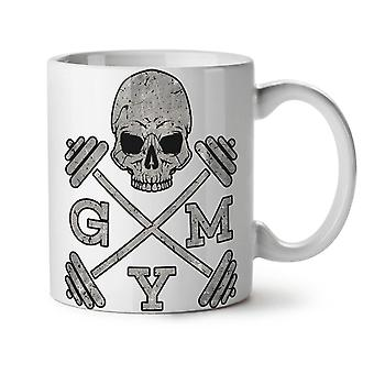 Cráneo Gimnasio Fitness deporte nuevo té blanco taza de café de cerámica 11 oz | Wellcoda