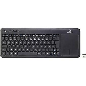 Wireless keyboard Renkforce Wireless Touch Black Touch surface