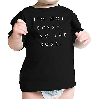 I'm the Boss Infant Gift Tee Shirt Black