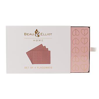 Beau & Elliot Blush Set of 4 Placemats