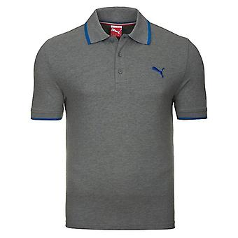 Puma moro Pigue Polo kort erme grå Heather 83221703