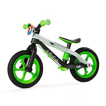 Chillafish BMXie Balance Bike With Rubber Skin Tyres Lime Green Ages 2-5 Years