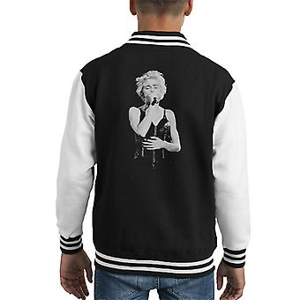 Madonna, wie dat meisje World Tour Wembley 1987 Kid's Varsity Jacket is