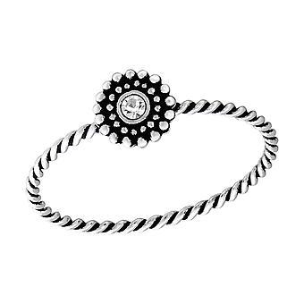 Blume - jeweled 925 Sterling Silber Ringe - W37231x