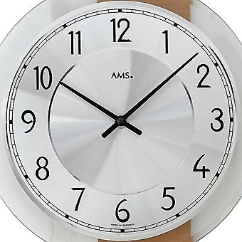 Quartz wall clock wall clock quartz core beech/aluminum application on wood rear wall