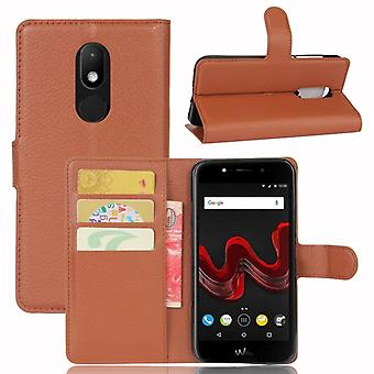 Pocket wallet premium Brown-to WIKO Wim Lite protection sleeve case cover pouch new