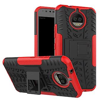 Hybrid Case 2teilig Outdoor Rot für Motorola Moto G5S Tasche Hülle Cover