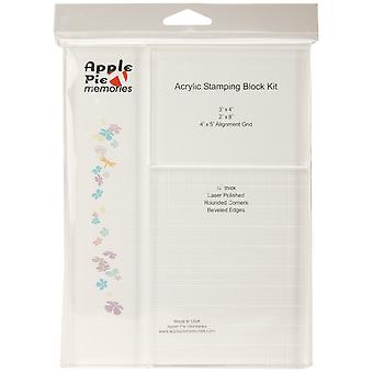 Apple Pie Memories Acrylic Stamp Blocks 3/Pkg