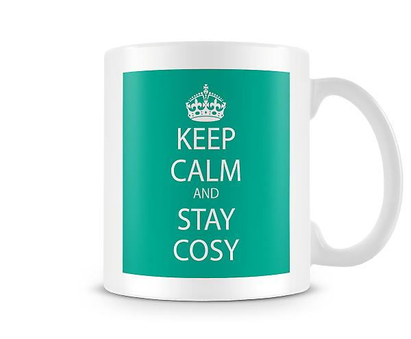 Keep Calm And Stay Cosy Printed Mug