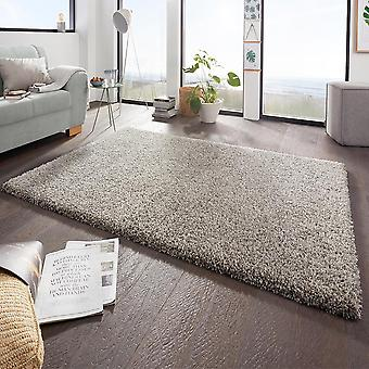 Design high pile carpet boutique grey cream mix