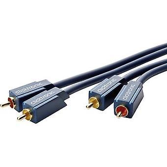 Clicktronic RCA Audio/RCA Cable [2 x RCA enchufe (phono) - 2 x RCA (fono)] 0,50 m azul conectores chapado en oro