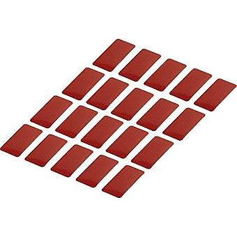Conrad Components 1282802 Adhesive strips RTS Red (L x W) 50 mm x 25 mm 20 pc(s)