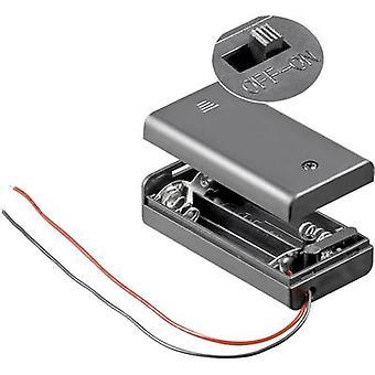 Caja de goobay 12443 baterías 2 x AA Cable (L x W x H) 68.4 x 35,4 x 18,6 mm