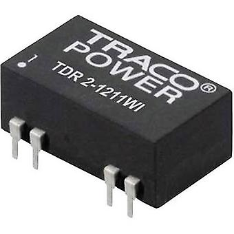 TracoPower TDR 2-4822WI DC/DC converter (print) 48 Vdc 12 Vdc, -12 Vdc 83 mA 2 W No. of outputs: 2 x