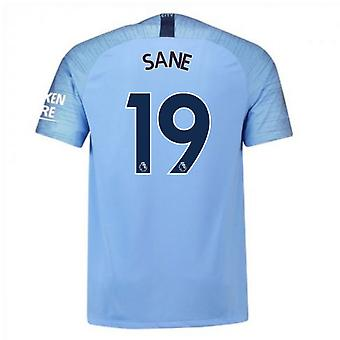 2018-2019 Man City Nike Vapor Home Match Shirt (Sane 19)