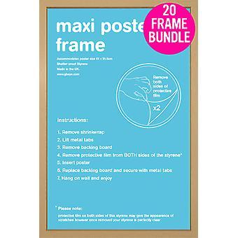 GB cartazes 20 Poster Maxi Carvalho quadros 61x91.5cm Bundle