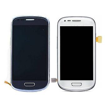 Zeug zertifiziert® Samsung Galaxy S3 Mini anzeigen (LCD + Touchscreen + Teile) A + Qualität - blau / weiß