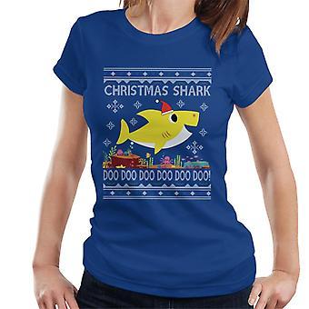 Baby Hai Weihnachten stricken Damen T-Shirt
