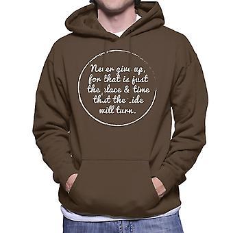 The Tide Will Turn Harriet Beecher Stowe Quote Men's Hooded Sweatshirt