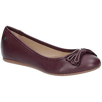 Hush Puppies Womens/Ladies Heather Bow Leather Ballet Shoes
