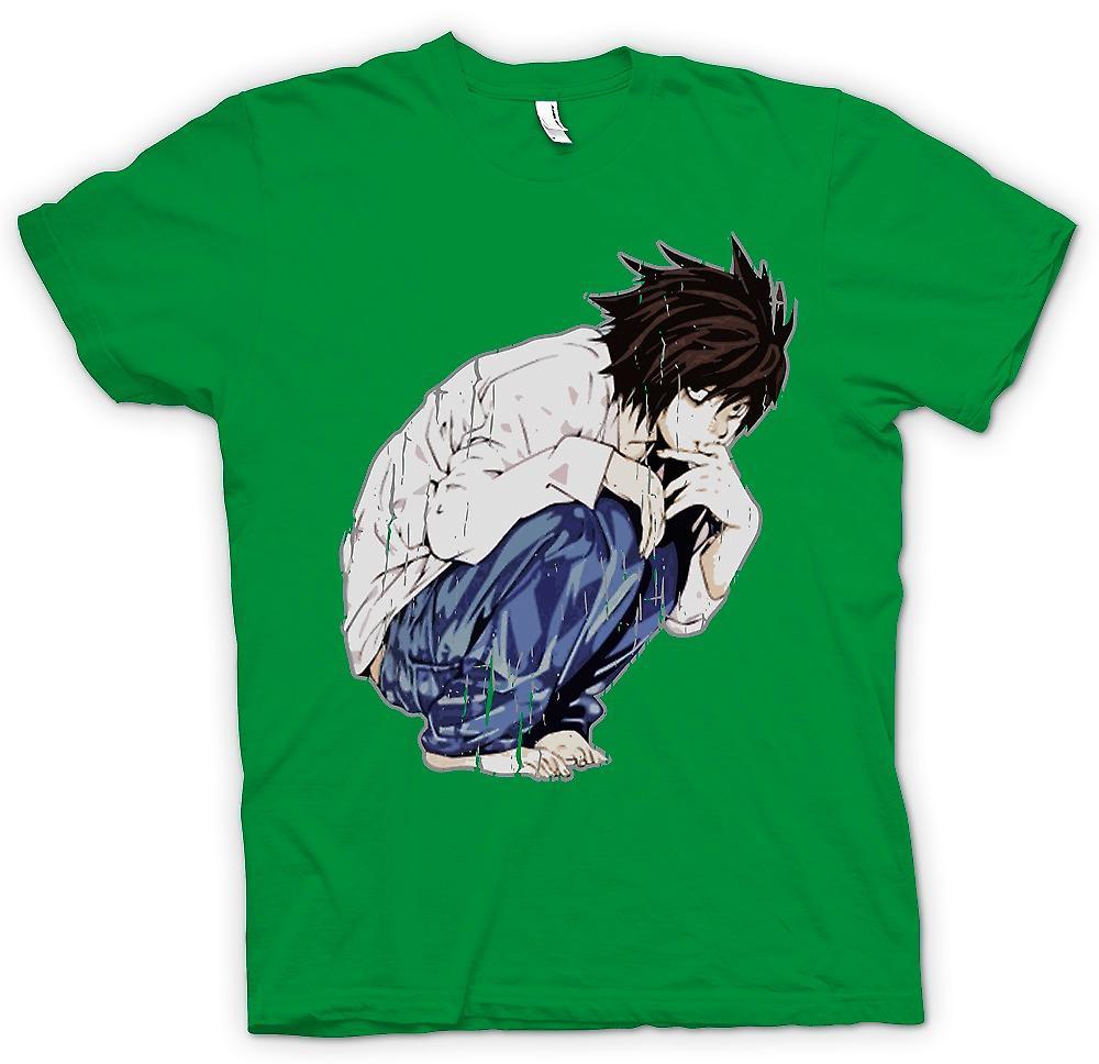 Mens t-skjorte - Deathnote - japanske Manga inspirert