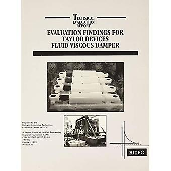Evaluation Findings for Taylor Devices Fluid Viscous Damper