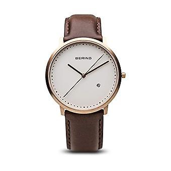 Bering Analog quartz men's watch with leather 11139-564