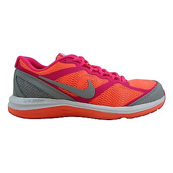 Nike Dual Fusion Run 3 Bright Mango/Metallic Silver-Pure Platinum 654143-800 Grade-School