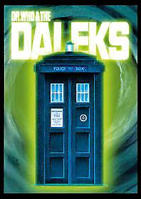 Dr Who and Daleks / Tardis fridge magnet (sd)