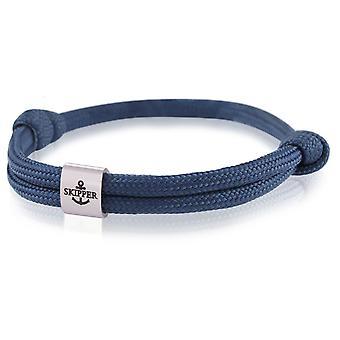 Schipper armband surfer band knooppunt maritimes armband roestvrijstaal mariene 7856