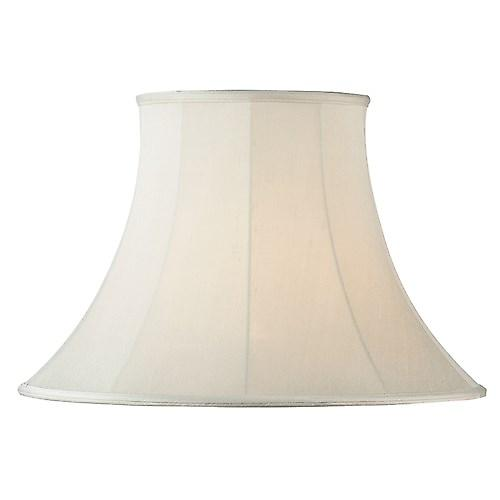 Endon CARRIE-10 Carrie Cream Fabric Lamp Shade Round Bell Shape - 10 Inch
