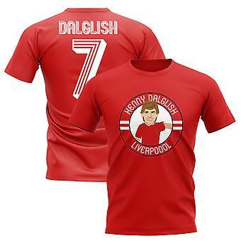 Kenny Dalglish Liverpool Illustration T-Shirt (Red)
